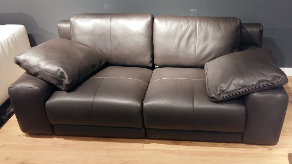 Sof piel marr n amarone outletsofa for Sofas baratos madrid outlet